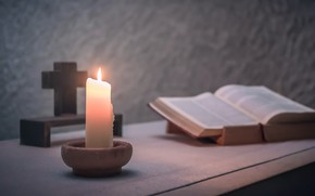 Picture background, candle, book