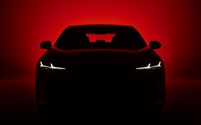Picture light, darkness, background, silhouette, Toyota, 2018, Avalon, Touring