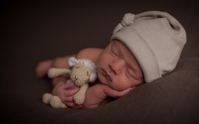 Picture toy, child, sleep, baby, toy, sheep, cap, baby, cap, child, baby, sleep, sheep