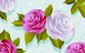 Picture flowers, background, figure, rose, roses, texture, flowers