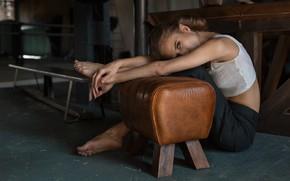 Picture girl, portrait, pants, Vyacheslav Shcherbakov