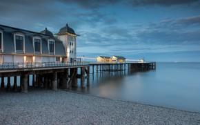 Picture sea, pierce, Wales