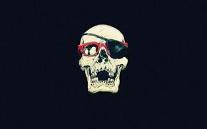 Picture Minimalism, Skull, Glasses, Art, Art, Sake, Minimalism, Headband, Robert Sammelin, by Robert Sammelin
