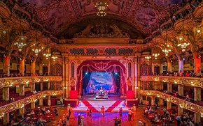 Picture scene, theatre, hall