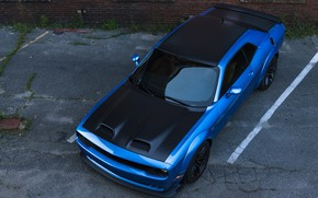 Picture Dodge, Challenger, the view from the top, Hellcat, SRT, Widebody, 2019, Redeye