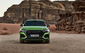 Picture Audi, desert, front view, crossover, 2020, RS Q8