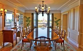 Picture room, interior, Disneyland, dining room