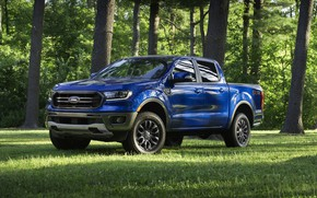 Picture blue, glade, Ford, pickup, Ranger, 2019, FX2 Package