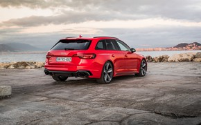Picture Audi, rear view, 2018, universal, RS4, Before