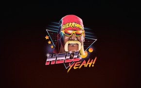 Wallpaper Minimalism, Art, Neon, 80's, Synth, Retrowave, Hulk Hogan, Synthwave, New Retro Wave, Futuresynth, Sintav, Retrouve, ...