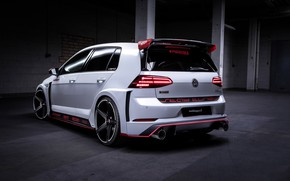 Picture Volkswagen, rear view, Golf, GTI, Oettinger, TCR, 2019, Germany Street