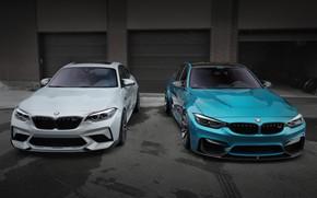 Picture BMW, Blue, Silver, F80, F87