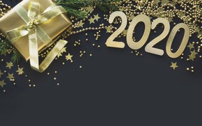 Picture holiday, gift, stars, new year, 2020