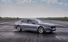 Picture BMW, sedan, wet asphalt, four-door, G12, G11, 2020, 7, 7-series, 2019, full-size