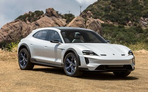 Picture Porsche, side view, 2018, Mission E, Cross Turismo