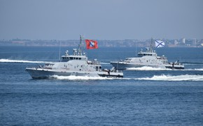 Picture parade, boats, Sevastopol, rook