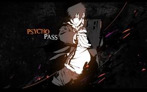 Picture gun, anime, art, guy, Psycho Pass, Psychoport