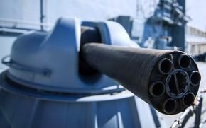 Picture installation, frigate, artillery, Admiral Makarov, AK-630