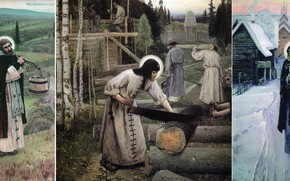 Picture Nesterov, Mikhail Vasilyevich, St. Sergius Of Radonezh, Works