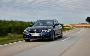 Picture BMW, crops, 3-series, universal, dark blue, 3P, 2020, G21, 330d xDrive Touring