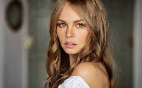 Wallpaper eyes, look, girl, blonde, Anastasia Shcheglova, Mark Prinz
