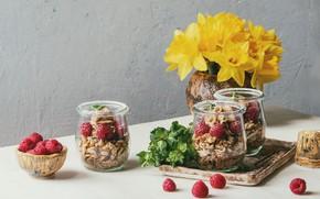 Picture berries, raspberry, Breakfast, granola, Natasha Breen