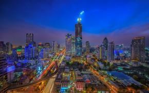 Picture the city, twilight, morning, Thailand, Bangkok