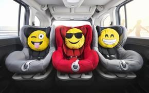 Picture car, smile, interior, fun