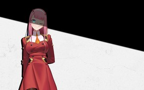 Picture girl, shadow, 002, Darling In The Frankxx, Cute in France, Zero Two