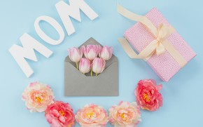 Picture flowers, gift, composition, Mother's Day