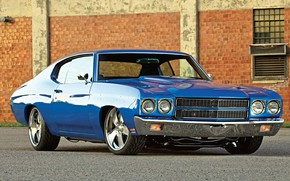 Picture Blue, Coupe, Chevy, Chevelle, Hardtop, Vehicle, V8