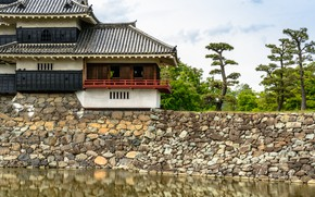 Picture Japan, Wall, Castle, Ditch, Matsumoto, Nagano