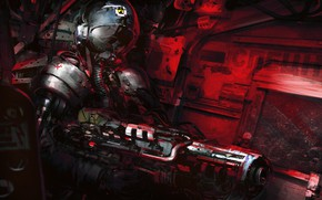 Picture Soldiers, Weapons, USSR, Art, Fiction, Characters, Klaus Wittmann, by Klaus Wittmann, Desolator