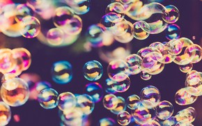 Picture bubbles, positive, blurred background