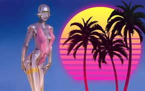 Picture Music, Girl, 80s, Robot, 80's, Synth, Retrowave, Synthwave, New Retro Wave, madeinkipish, Futuresynth, Sintav, Retrouve, …