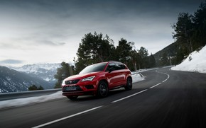Picture mountain road, SUV, Seat, Cupra, Ateca, 2019