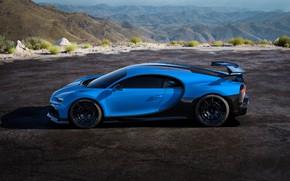 Picture Bugatti, side view, hypercar, Chiron, 2020, Pur Sport