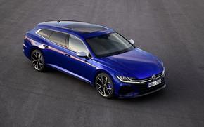 Picture asphalt, blue, Volkswagen, universal, Shooting Brake, 2020, Arteon, Shooting Brake R, Arteon R