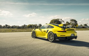 Picture Porsche, Yellow, 991, VAG, GT2RS