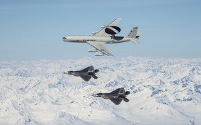 Picture UNITED STATES AIR FORCE, AWACS, F-22 Raptor, multi-purpose fighter of the fifth generation, AWACS, the …