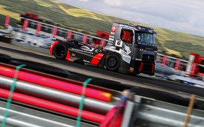 Picture movement, track, the fence, truck, Renault, racing, Renault Trucks, Premium Course MKR