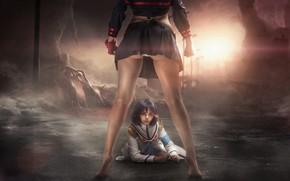 Picture girls, scene, sisters, cosplay, Kill La Kill