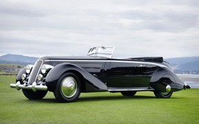 "Picture Convertible, Classic, Lancia, Chrome, Classic car, 1936, Lancia Astura Cabriolet, Type ""The Mouth"""