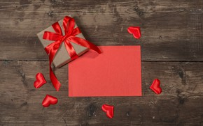 Picture love, gift, heart, hearts, red, love, heart, wood, romantic, valentine's day