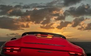 Picture clouds, red, ass, 911, Porsche, Speedster, 991, 2019, 991.2