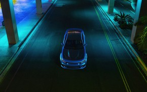 Picture Auto, Blue, Machine, Dodge, Car, Car, Render, The view from the top, Dodge Charger, Hellcat, …