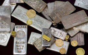 Picture gold, coins, bars