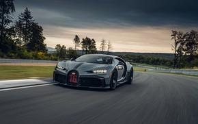 Picture grey, track, Bugatti, Chiron, 2020, Chiron Pur Sport