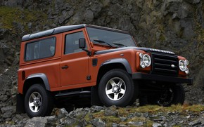 Picture Land Rover, 2009, Defender, Limited Edition, the slope