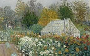 Picture landscape, picture, 1902, Maxime Maufra, Maxim Mora, Autumn Flowers
